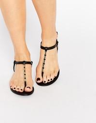 Черные сандалии с золотистой отделкой ALDO Falera - Черный