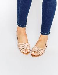Кожаные летние туфли ASOS JINNY - Розовый