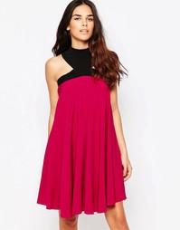 Свободное платье Hedonia Lacey - Фуксиево-красный