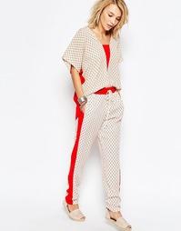 Спортивные штаны с вышивкой Deby Debo Gondar - Печатный