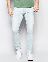 Белые супероблегающие джинсы Nudie Jeans Pipe Led - Pillar white