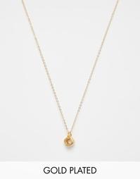 Позолоченное ожерелье на цепочке 45 см с подвеской Mirabelle - Золотой