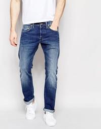 Свободные суженные книзу джинсы с потертостями Edwin ED-55 CS