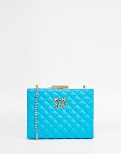 Стеганая сумка через плечо Love Moschino - Небесно-голубой