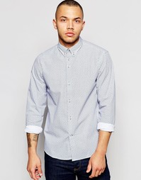 Поплиновая рубашка с геометрическим принтом Dickens and Browne - Белый