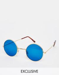 Круглые солнцезащитные очки Hindsight Vintage Kendall - Золотой