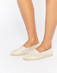 Белые переливающиеся туфли‑эспадрильи Pieces Haisha - Снежно-белый