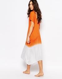 Пляжное платье с глубоким вырезом сзади и эффектом омбре Akasa Asaka