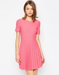 Фактурное платье мини со складками ASOS - Розовый