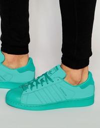 Зеленые кроссовки adidas Originals Superstar adicolor S80331 - Зеленый