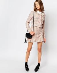 Твидовая юбка с оборками Sister Jane Pink Lemonade Co-Ord - Телесный