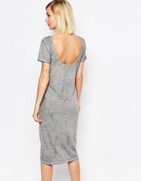 Трикотажное платье с глубоким вырезом на спине Selected Viona
