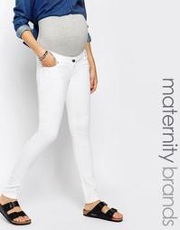 Белые облегающие джинсы Mamalicious - Белый Mama.Licious