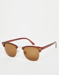 Солнцезащитные очки в стиле ретро Vero Moda - Caramel café