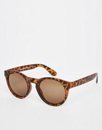 Коричневые солнцезащитные очки в черепаховой оправе Vero Moda - Белуга