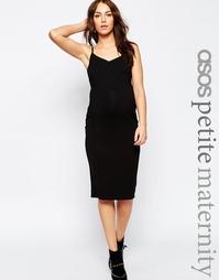 Платье миди для беременных на бретельках ASOS Maternity PETITE