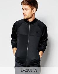 Черная спортивная куртка с логотипом New Balance MJ61561 - Черный