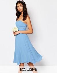 Платье миди для выпускного TFNC WEDDING - Кашемировый синий