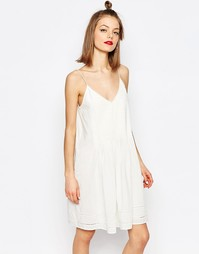Пышное летнее платье Samsoe & Samsoe Haupt - Прозрачный крем Samsøe &; Samsøe