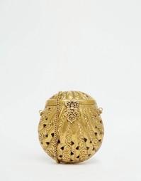 Золотой клатч в форме ракушки From St Xavier - Золотой