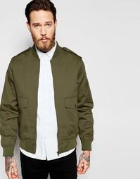 Куртка-пилот цвета хаки в стиле милитари с карманами ASOS MA1 - Хаки
