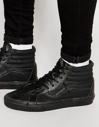 Черные кроссовки со змеиным принтом Vans Sk8-Hi V4PBIUU - Черный