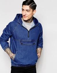 Джинсовая куртка в стиле свитшота Kubban - Синий