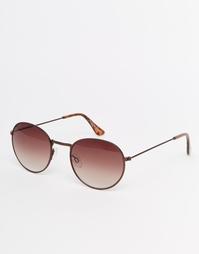 Круглые солнцезащитные очки Jack Wills - Коричневый
