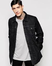 Темная джинсовая куртка Kubban - Черный