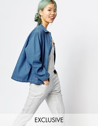 Джинсовая куртка прямого кроя Zacro - Синий