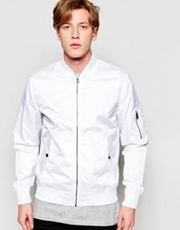 Нейлоновая куртка-пилот Jack & Jones - Белый