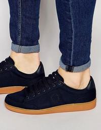 Кожаные кроссовки Fred Perry Hopman - Темно-синий