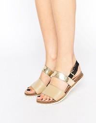 Кожаные сандалии с ремешками Ravel