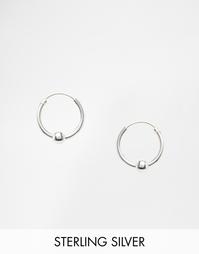 Серебряные серьги‑кольца с шариками Kingsley Ryan - Серебряный