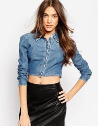 Укороченная джинсовая рубашка Blank NYC - Pussy foot