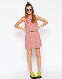 Фактурная юбка с геометрическим принтом ASOS AFRICA - Мульти