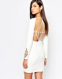 Платье-футляр с ромбовидным вырезом на спине The 8th Sign - Белый
