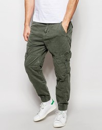 Суженные книзу брюки-карго с карманом True Religion - Светло-оливковый
