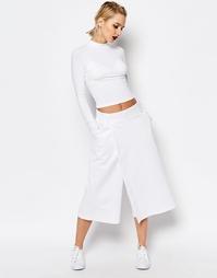 Укороченная юбка-брюки Аdidas Originals by HYKE - Белый Adidas