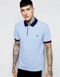 Приталенная футболка-поло с контрастным воротничком Fred Perry