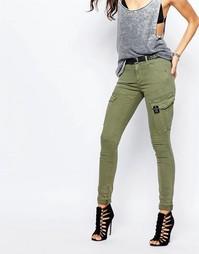 Зауженные брюки-карго G-Star - Зеленый