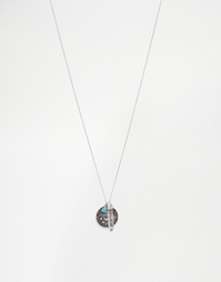 Серебристое ожерелье с подвесками ASOS - Шлифованный серебряный