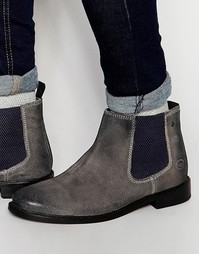 Замшевые ботинки челси Base London Scuttle - Серый