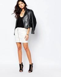 Джинсовая юбка с молнией спереди G‑Star Lynn - Белый
