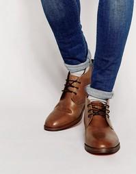 Кожаные ботинки чукка Hudson London Houghton - Коричневый