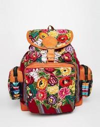 Рюкзак с гобеленовым цветочным узором Hiptipico - Цветочный тканый