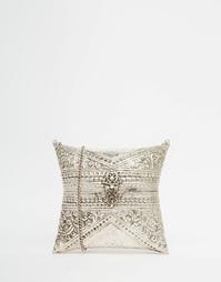 Клатч в форме подушки с тисненым цветочным узором From St Xavier