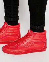 Красные кроссовки со змеиным принтом Vans Sk8-Hi V4PBIJF - Красный
