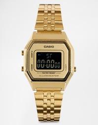 Электронные часы в золотом корпусе Casio LA680WEGA Mini - Золотой
