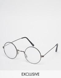 Круглые очки Reclaimed Vintage - Черный